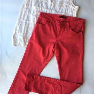 Bright Flamingo Pink Willi Smith Skinny Jeans